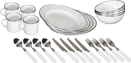 STANSPORT 11220-03 مجموعة أدوات المائدة الفاخرة 24 قطعة (أبيض)