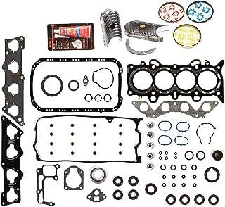 Evergreen Engine Rering Kit FSBRR4038EVE000 Fits 01-05 Honda Civic 1.7 SOHC D17A1 Full Gasket Set, Standard Size Main Rod Bearings, Standard Size Piston Rings