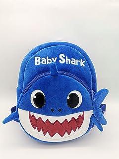 MissTiara Kids School Backpack, Baby Shark School Bag for Children Kids Cute Plush School Backpack Boys Schoolbag (blue)