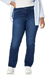Women's Plus Size Marilyn Straight Ankle Jeans | Slimming...