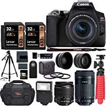 Canon EOS SL3 DSLR Camera with EF 55-250mm, Two Lexar 633x 32GB SDHC Memory Cards, Tripods,...
