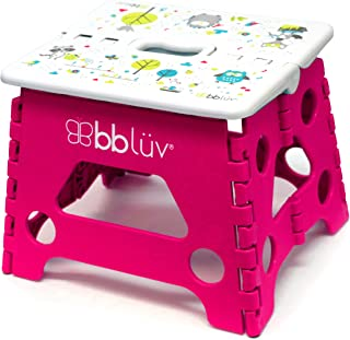 BBLUV Foldable Step Stool-Compact and Easy Clean Pink, Pink