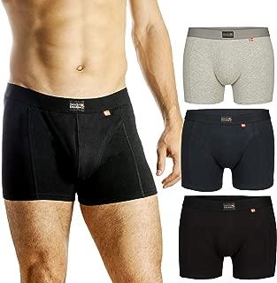 DANISH ENDURANCE Men's Trunks 3-Pack, Soft Cotton, Classic Fit Underwear, Multipack Boxershorts Black, Grey, Navy Blue