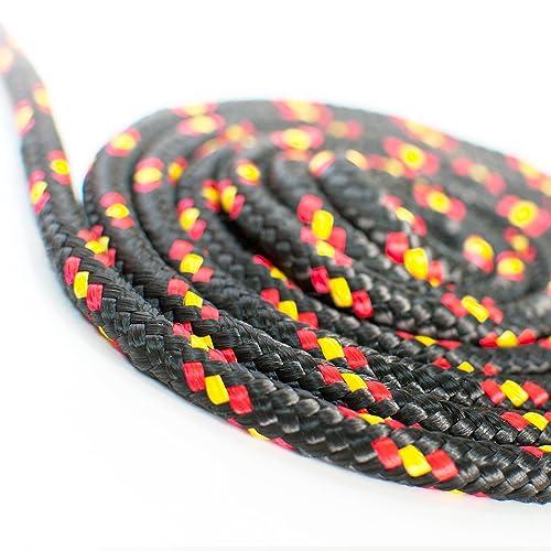 20m black polypropylene rope poly cord 6mm