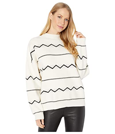 LOST + WANDER Bonfire Pullover Sweater (White/Black) Women
