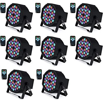 Amazon.com: DJ Lights Missyee 36 X 1W RGB LEDs DJ LED Uplighting Package  Sound Activated Stage Par Lights with Remote Control Compatible with DMX, 9  Modes LED Up Lights for Wedding EventAmazon.com