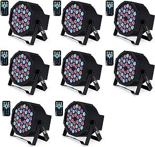 DJ Lights Missyee 36 X 1W RGB LEDs DJ LED Uplighting Package Sound Activated Stage Par..