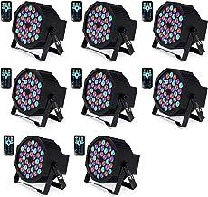 DJ Lights Missyee 36 X 1W RGB LEDs DJ LED Uplighting Package Sound Activated Stage Par Lights with Remote Control Compatib...
