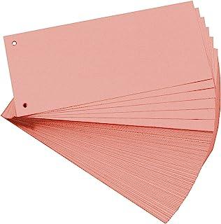 EXACOMPTA 13435B Paquet de 100 fiches intercalaires perforées 180g papier recyclé Forever unies à l'italienne 10,5 cm x 24...