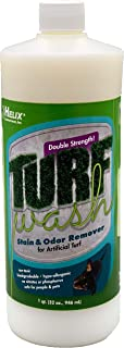 Pet Odor Eliminator and Stain Remover for Artificial Astroturf Patio Carpet Concrete Soil Rubber Matting Synthetic Lawn Kennel Dog Run. TurfWash Enzyme Deodorizer Eliminates Urine Feces Destroys Odors
