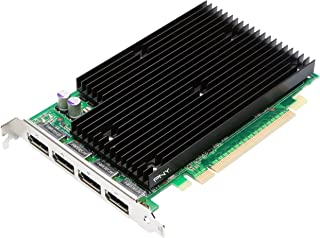 NVIDIA Quadro NVS 450 by PNY 512MB GDDR3 PCI Express Gen 2 x16 Quad DisplayPort Profesional Business Graphics Board, VCQ450NVS-X16-PB