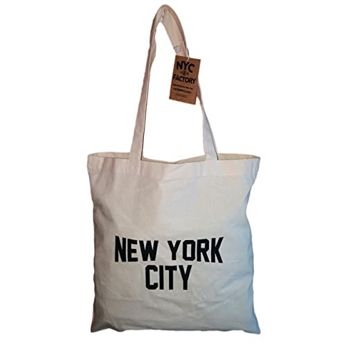 f31edee1d NYC Tote Bag New York City 100% Cotton Canvas Screenprinted