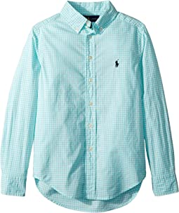 Polo Ralph Lauren Kids Gingham Stretch Cotton Shirt (Big Kids)