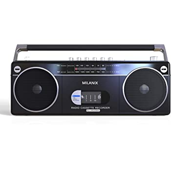 Gold Studebaker Portable Retro Home Audio Stereo AM//FM Radio /& Cassette Player//Recorder with Aux Input Jack /& Built in Speakers