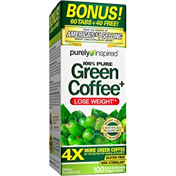 Amazon Com Purely Inspired Green Coffee Bean Weight Loss Supplement Non Stimulant 100 Pure Green Coffee For