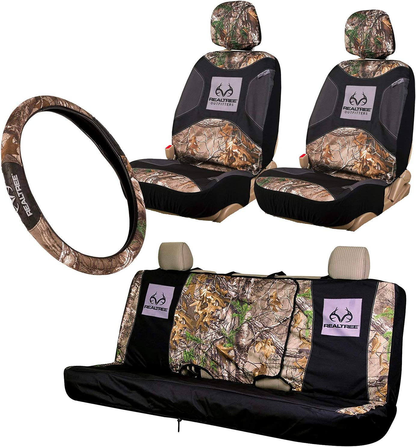 Realtree 4pc gift Camo Auto High material Accessories and Mint - Timber Xtra
