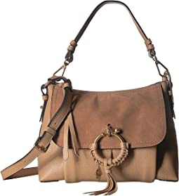 Joan Suede & Leather Small Shoulder Bag