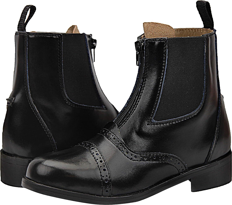 Hispar Kids Children Challenger Zip Zipped Paddock English Horse Riding Leather Boots