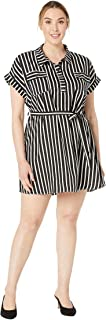 American Rose Women's Plus Size Penelope Button Up Dress