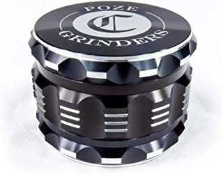 """Best Herb Grinder Premium [Upgraded Version].Large 4 Piece 2.5"""" Perfect Grinder For Spice - Color: Black Aluminum"""