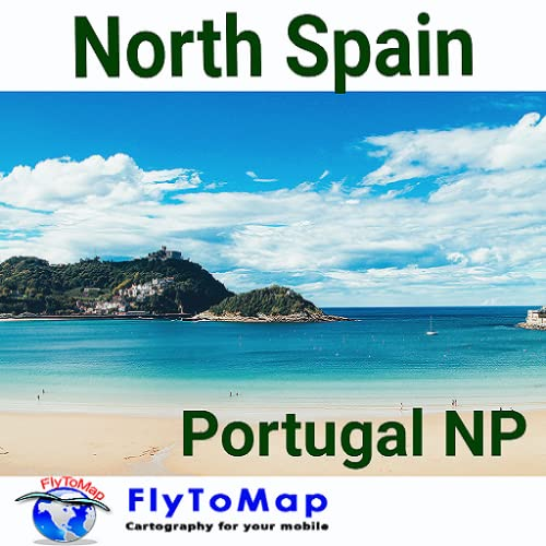 North Spain to Portugal GPS Map Navigatore