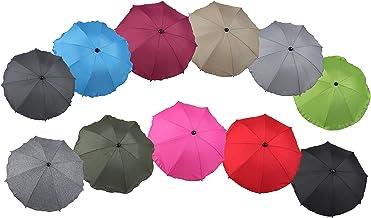 """Clamaro """"SUNCOVER"""" Universal Sonnenschirm Regenschirm für Kinderwagen und Sport Buggy 11 Farben, Babywagen Schirm mit Universal Halterung mit 360° flexiblen Schwanenhals, Bordeaux 3"""