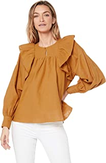 IMONNI Women's Marian Linen Cotton Blouse