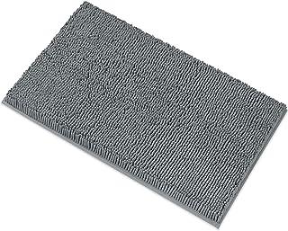 (Dark Gray) - Mayshine Non-Slip Bathroom Rug Safety Shower Mat Machine-Washable Bath Carpet with Water Absorbent Soft Micr...