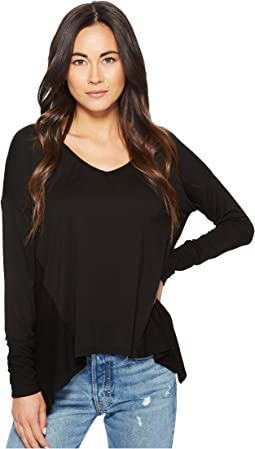 Mixed V-Neck Top