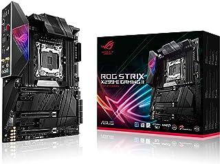 ASUS ROG Strix X299-E Gaming II ATX placa base para juegos (Intel X299) LGA 2066, Wi-Fi 6 (802.11ax), 2.5 GBS LAN, 8X DIMM máx. 256GB, USB 3.2 Gen 2, 8X SATA, 3X M.2, OLED y Aura Sync RGB