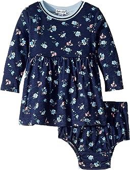 Floral Print Dress Set (Infant)