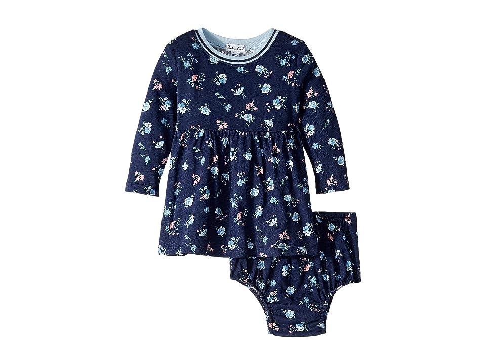 Splendid Littles Floral Print Dress Set (Infant) (Navy) Girl