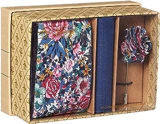 Original Penguin Men's 3-piece Floral Tie, Pocket Square & Lapel Pin Box