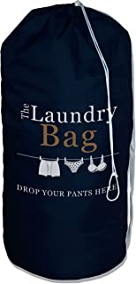 Drop Your Pants Here Laundry Bag - Great Ice-Breaker at Laundromat - Commercial Grade Plus with 2 Strong Shoulder Straps, Large 36x24, for College Dorm   Travelling   Camp