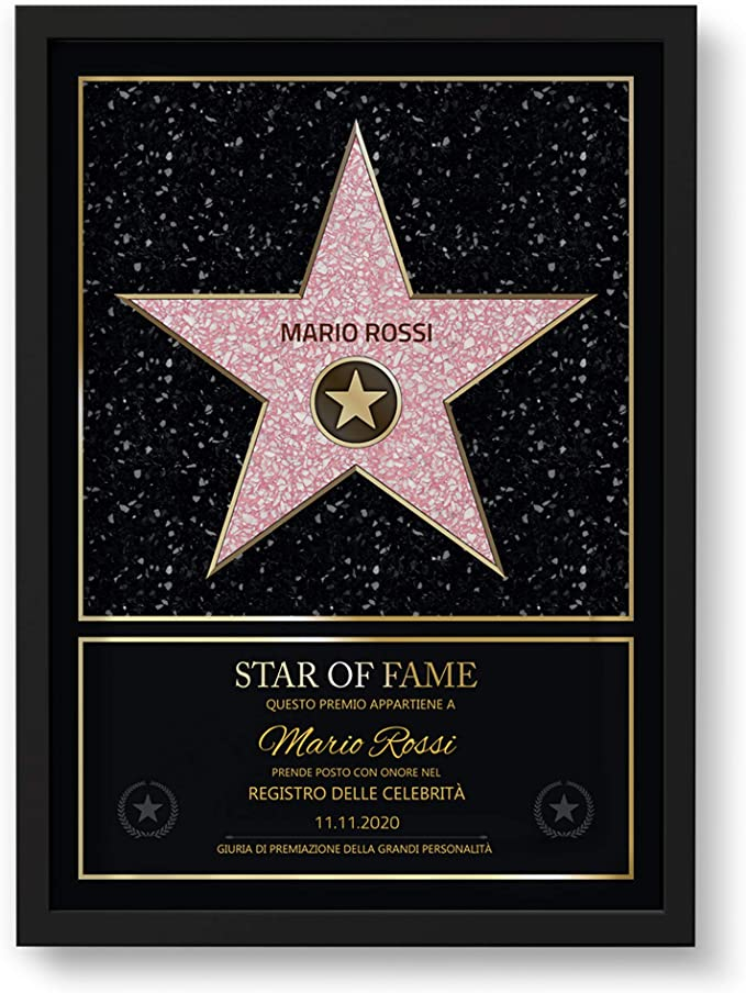 204 opinioni per GOODS+GADGETS Stile Hollywood Walk of Fame Personale- Certificato Star of Fame