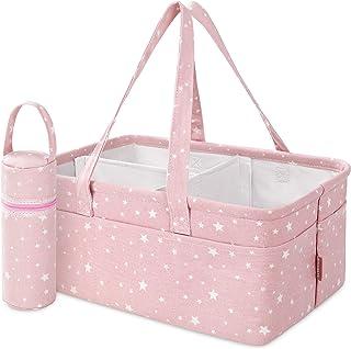 StarHug Baby Diaper Caddy Organizer - Baby Shower Basket | Large Nursery Storage Bin for Changing Table | Car Travel Tote ...