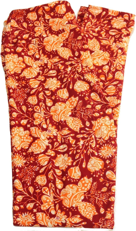 Lularoe Flower Leggings (OS) Fits Pants Size 0-10
