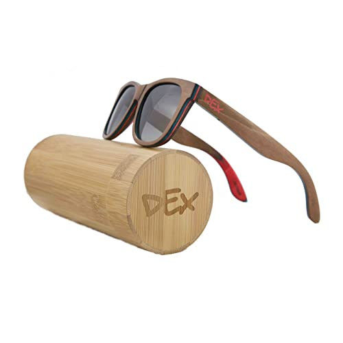 cece653e2671 Handmade Skateboard Wood Sunglasses In A Wayfarer That Float! Polarized  UV400 Lenses