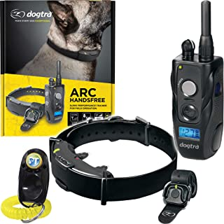 Dogtra ARC HANDSFREE Remote Training Dog Collar - 3/4 Mile Range, Hands free Remote Controller, Waterproof, Rechargeable, ...