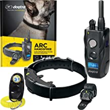 Dogtra ARC HANDSFREE Remote Training Dog Collar - 3/4 Mile Range, Hands free Remote Controller, Waterproof, Rechargeable, 127 Training Levels, Vibration - includes PetsTEK Dog Training Clicker