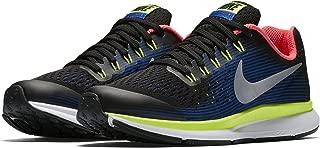 Boy's Zoom Pegasus 34 (GS) Running Shoe Black/Chrome-Volt-Racer Blue 4.5Y