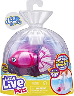 Little Live Pets 26168 Lil' Dippers S2 Single Pack Fish, Interactive, Animated Electronic Toy, Lifelike Swimming Movement,...