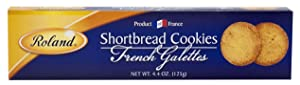 Roland Foods Shortbread Cookies, French Galettes, Specialty Imported Food, 4.4-Ounce Box