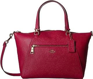 Coach Womens Polished Pebbled Leather Prairie Shoulder Bag