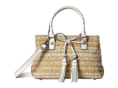 Patricia Nash Ebbe Woven Straw Angela Satchel (White) Satchel Handbags