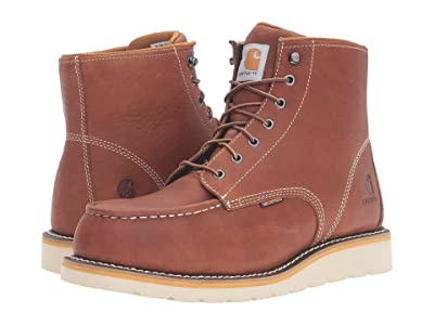 Carhartt 6 Steel Toe Waterproof Wedge Boot (Tan Oil Tanned Leather) Men
