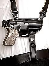 Premium Leather Horizontal Shoulder Holster with Double Mag Case fits, HK VP9, HK USP, HK P2000, HK P30, P30L, HK P7 M8, HK 45, HK 45C, Right Hand Draw, Black Color