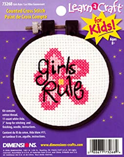 Dimensions Needlecrafts 73268 Counted Cross Stitch, Girls Rule