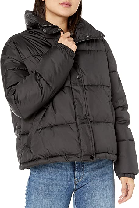 Marchio Amazon - Dani Recycled Poly Puffer Jacket, outerwear-jackets Donna di The Drop