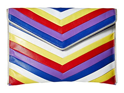 Rebecca Minkoff Chevron Quilted Leo Clutch (Rainbow) Clutch Handbags